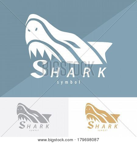 Shark symbol icon design. Vector illustration Logo template design with business card.