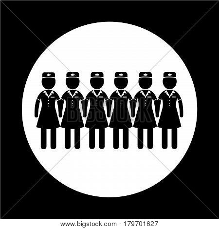an images of Or pictogram Air Hostess icon