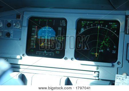 Primary Flight Display And Nav Display