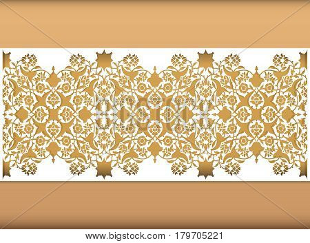 Laser cut floral arabesque ornament pattern vector. Template cutting wedding invitation greeting card. Silhouette pattern printing engraving laser cutting paper wood metal stencil manufacturing