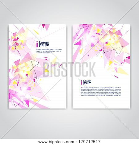 Abstract Triangle Geometrical Background Banner Copy Space Vector Illustration