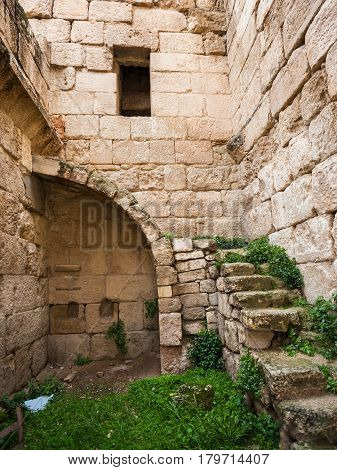 Patio And Interior Of Roman House In Gerasa Town