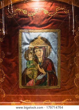 Icon In Greek Orthodox Basilica Of St George
