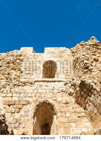 Inner Walls In Courtyard Of Medieval Kerak Castle