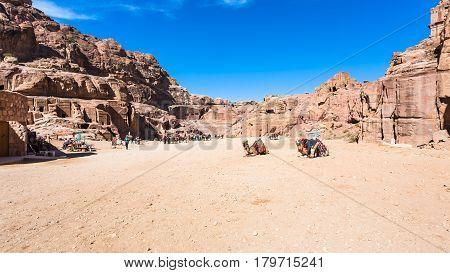 Panorama Of Ancient Petra Town