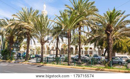 King Hussein Street In Aqaba City