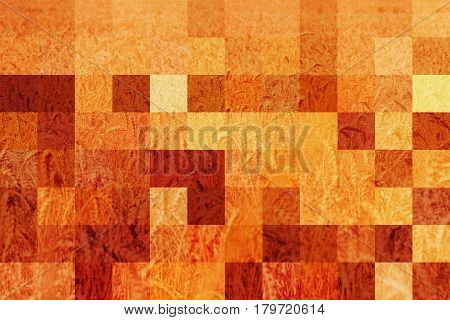 Abstract background Illustration wheat field big pixel patches