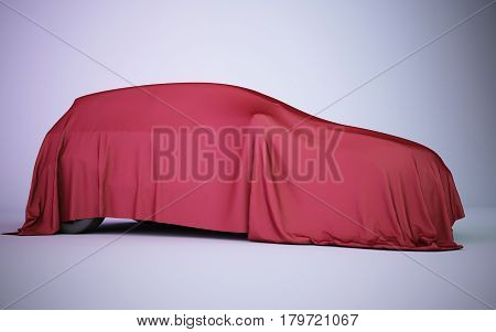 Car Covered With Red Velvet