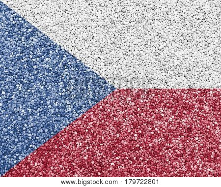 Textured Flag Of Czech Republic In Nice Colors