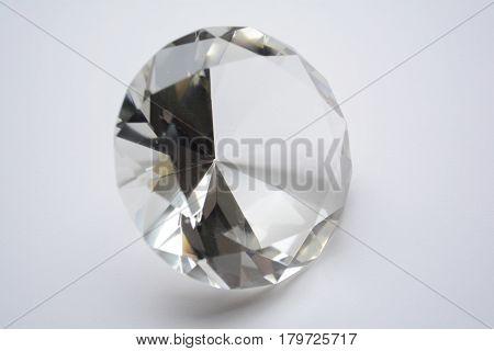 large diamond on a white background , gemstone