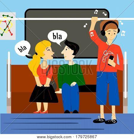 People Inside Metro Train