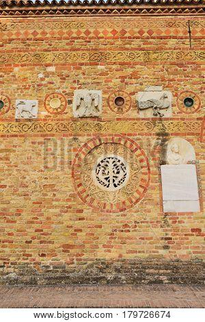 Abbey of Pomposa medieval world famous Benedictine monastery Codigoro Emilia-Romagna Italy
