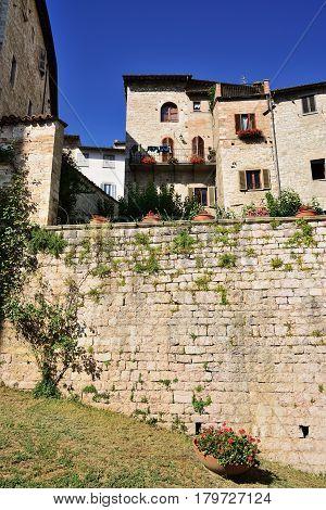 Medieval town Gubbio Umbria Region Perugia Province / Metropolitan city Italy.