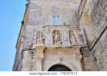 Panoramic view of the medieval ancient town of Matera (Sassi di Matera) Basilicata Italy.