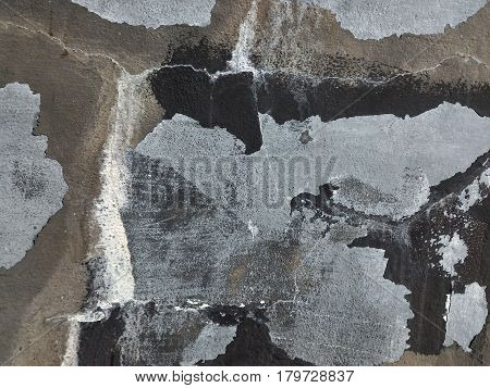 detail of old paint on old wall for background