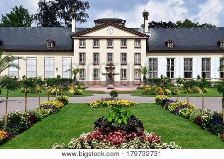 Strasbourg France - july 24 2016 : Pavillon Josephine in the Orangerie park in summer