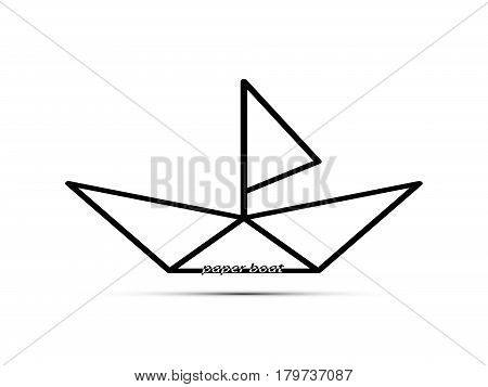 Paper Boat With A Sail