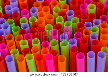 The Closeup Multi Color beautiful flexible straws.