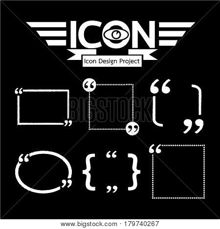an images of Or pictogram Quotation Mark Speech Bubble icon
