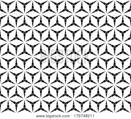 Vector seamless pattern, monochrome repeat triangular texture. Simple light polygonal minimalist backdrop. Abstract endless background for tileable print. Design for prints, home decor, fabric, furniture, textile, cloth, covers