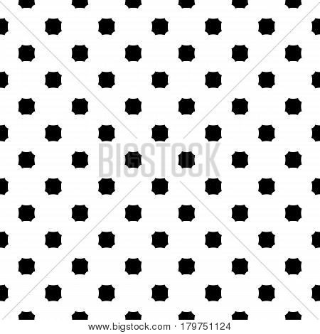 Vector monochrome seamless texture. Black & white geometric minimalist pattern, illustration with simple figures, octagons. Abstract repeat background. Design element for prints, decor, furniture, textile, fabric, digital, web