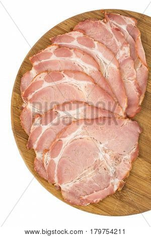 Sliced Domestic Smoked And Cured Pork Neck Meat