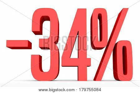 Minus Thirty Four Percent. Discount 34 %.