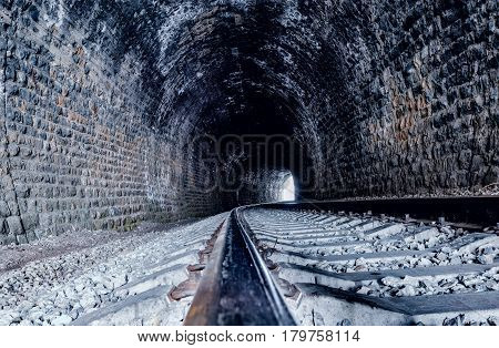 View of the old tunnels. Circum-Baikal Railway. Russia.
