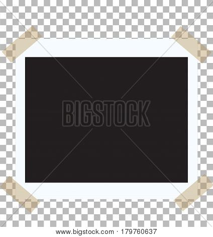 vintage photo frame with straight edges on sticky.