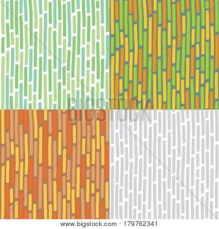 Seamless vector background or pattern with discontinuous fat short vertical lines, like bamboo stalks or engraving on wood