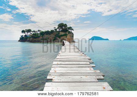 Agios Sostis island, Beautiful landscape of Zakinthos island, Greece