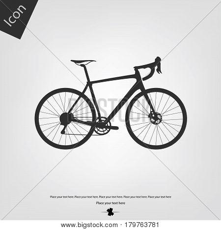 Bike icon vector, gray background. Vector illustration.