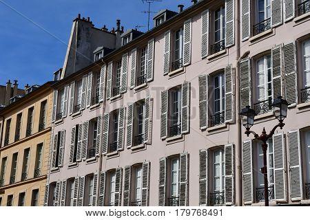 Versailles France - august 13 2016 : the Saint Louis district