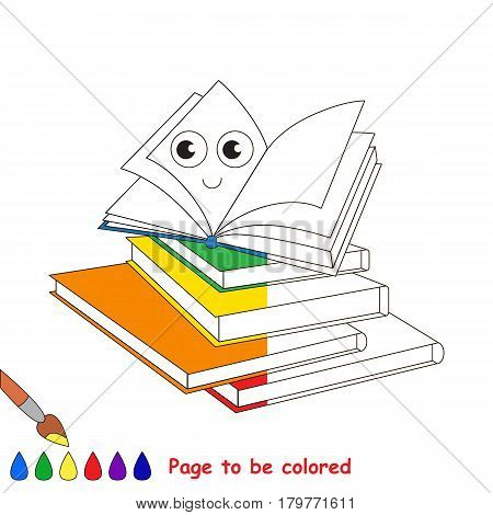 A lot of Happy Books, the coloring book to educate preschool kids with easy gaming level, the kid educational game to color the colorless half by sample.