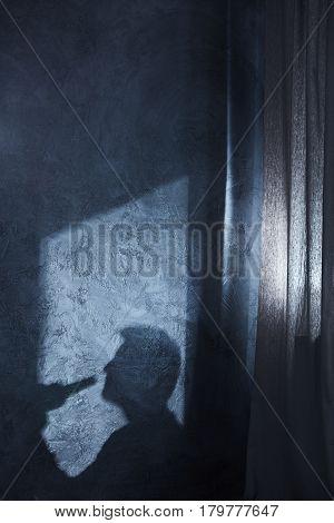 Shadow Of Drinking Man