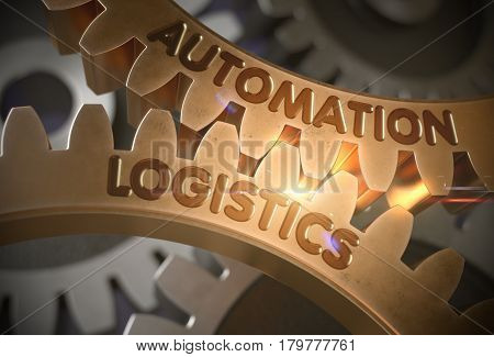 Automation Logistics - Industrial Design. Automation Logistics - Illustration with Lens Flare. 3D Rendering.