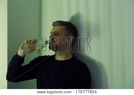 Man Drinking Vodka