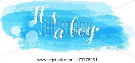 Baby Gender Reveal Illustration.
