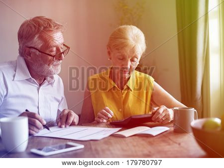 Photo Gradient Style with Senior Couple Insurance Appication Form