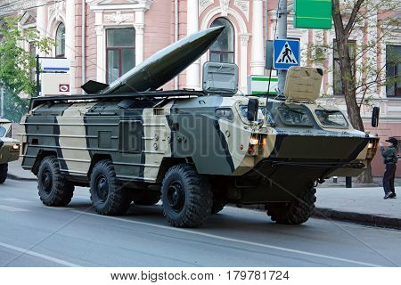 Tochka-U tactical missile system Rostov-on-Don Russia May 6 2009. Preparation for the Victory Parade
