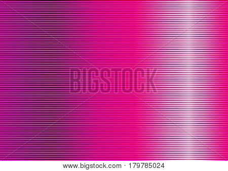 Abstract pink striped lined horizontal glowing background. Scan screen. Technological futuristic card with stripes. Vector illustration.