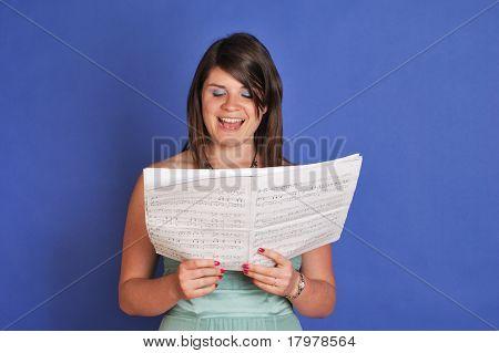 girl singing choral music