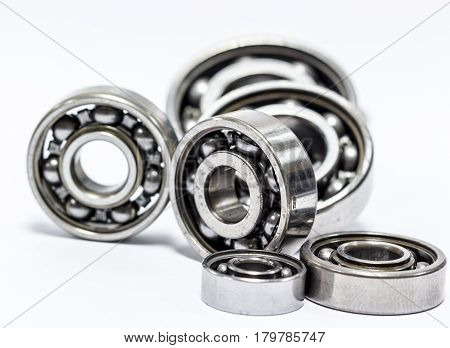 The ball bearing isolated on white background.