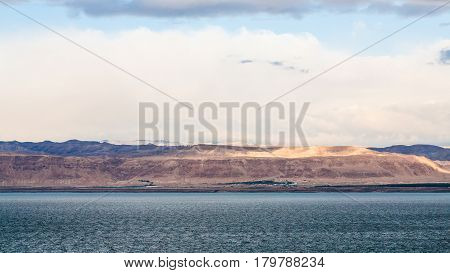 View Of Dead Sea And Jerusalem On Winter Dawn