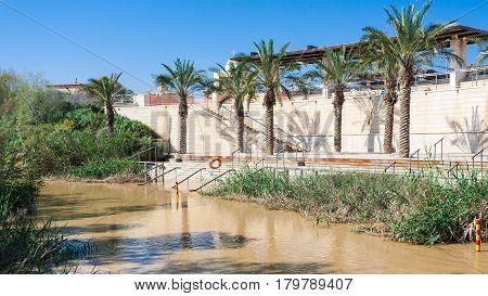 View Of Qasr El Yahud In Jordan River From Jordan