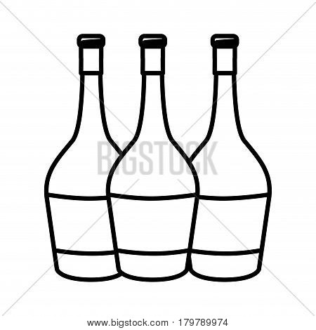 figure wine bottles taste beverage, vector illustration design
