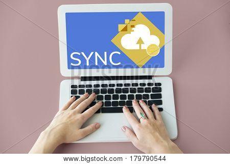 Sync Synchronization Modern Technology Concept