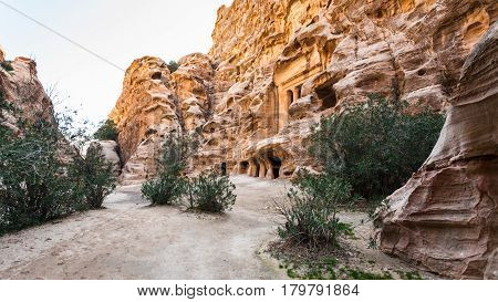 Ancient Street In Little Petra Town