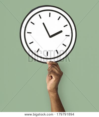Human Hand Holding Clock Time