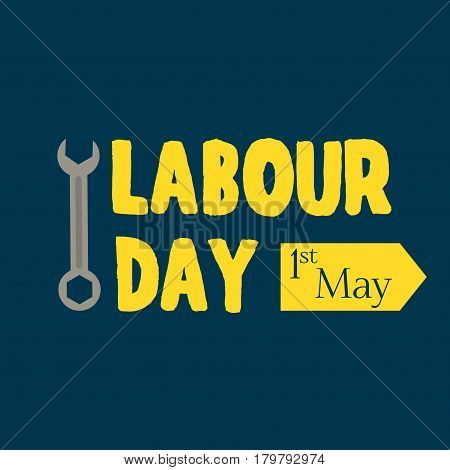 Grunge background Labor Day typography engineer occupation vector illustration. Celebration freedom international may labour day holiday. Construction labour day industry card national banner.
